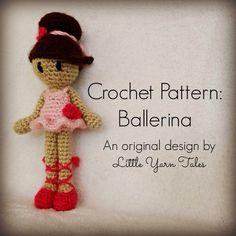 Free crochet ballerina pattern by Little Yarn Tales! photo links to pattern :)
