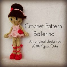 Free crochet ballerina pattern by Little Yarn Tales! photo links to pattern :)