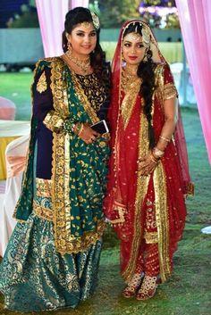 Khada dupatta and gharara