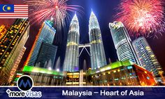 #Malaysia – Heart of #Asia. Read More... #morevisas  https://www.blog.morevisas.com/malaysia-heart-of-asia/