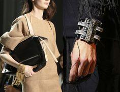 fringe bracelet and cuff bracelet http://www.bykoket.com/blog/fall-winter-2014-2015-latest-jewelry-trends-vogue/
