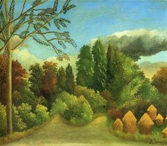 View of the Banks of the Oise - Henri Rousseau