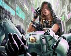 Mara Jade using Force healing on a Stormtrooper by Clark Huggins