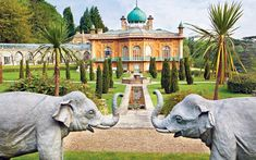 The house at Sezincote is modelled on the Mogul style of Rajasthan, complete with minarets, peacock-tail windows, jali-work railings and pavilions.   Picture: MMGI