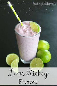Lime Rickey Freeze recipe.  I love lime rickey soda and this is an amazing twist on my favorite summer drink!