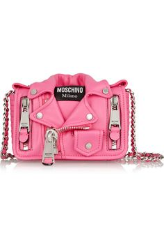 Pink leather (Calf) Snap-fastening front flap Comes with dust bag