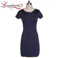 Ladies Summer Style Work Dress Elegant Pinup Stretch Bussiness Short Sleeve Dress Bodycon Slim Package Hip Bandage Dress
