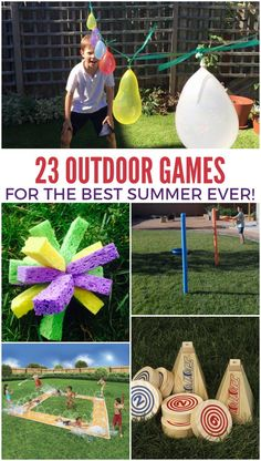23 Outdoor Games for the Best Summer Ever Fun Games, Party Games, Summer Crafts, Crafts For Kids, Picnic Activities, Family Reunion Activities, Family Games, Outside Games, Summer Fun For Kids