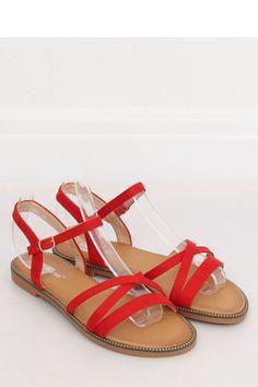 4d9f8e5719 Σανδάλια με χιαστί λεπτομέρειες - Κόκκινο. Fashion e-Shop