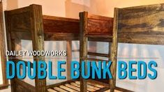 Double Bunk Beds Made With Plans from Jay's Custom Creations Woodworking Tool Cabinet, Woodworking Tools List, Woodworking Blueprints, Woodworking Planes, Woodworking Shows, Woodworking Shop Layout, Woodworking Furniture Plans, Teds Woodworking, Corner Bunk Beds