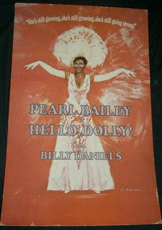 Pearl Bailey Hello, Dolly! Broadway Musical Window Card Poster 1975