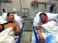 Arnold & Stallone.    Conan & Rambo.