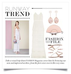 """Runway Trend. ... Fashion File"" by conch-lady ❤ liked on Polyvore featuring RED Valentino, self-portrait, Valentino, Larkspur & Hawk, NYFW, runwaytrend and Fashionfile"