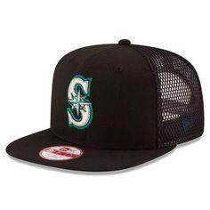 92396c0d218d8 Men s Seattle Mariners New Era Black Trucker Tagged Original Fit 9FIFTY  Snapback Adjustable Hat