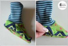 Wendeöffnung an der Fußsohle per Hand vernähen