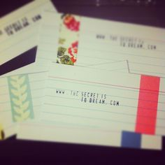 DIY business card-- note cards!