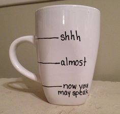the perfect Monday morning coffee cup.diy sharpie mug My Coffee, Coffee Cups, Morning Coffee, Coffee Time, Coffee Break, Drink Coffee, Monday Coffee, Coffee Works, Coffee Today