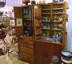 Craft Shop pottery display  | John C. Campbell Folk School | Visit us at www.folkschool.org