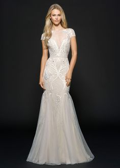 Form-Fitting Wedding Dresses Lace Overlay