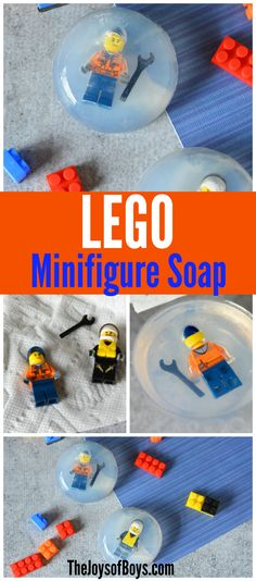 LEGO minifigure soap!  This might actually encourage my boys to get clean.  I'm sure they would want their minifigure out of the soap!