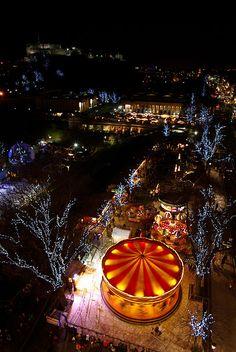 Winter Wonderland in Edinburgh, Scotland...