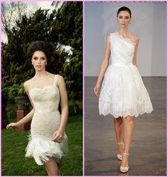 vestido de noiva curto ombro so