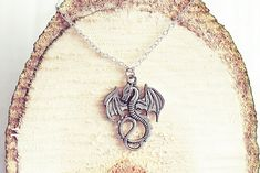 Items similar to Silver Dragon Necklace Dragon Necklace, Dragon Jewelry, Men Necklace, Jewelry Show, Metal Jewelry, Jewelry Making, Jewellery, Mythical Dragons, Be Your Own Kind Of Beautiful