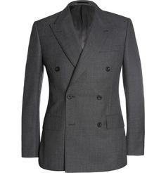 Kingsman Grey Double-Breasted Birdseye Wool Suit | MR PORTER