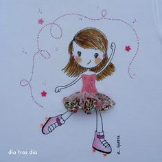 camiseta personalizada Types Of Embroidery, Machine Embroidery Designs, Embroidery Stitches, Hand Embroidery, Diy And Crafts, Arts And Crafts, Paper Crafts, Party In A Box, Applique Patterns