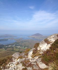 A view I saw from a mountain top in beautiful Connemara, Ireland