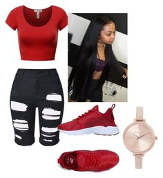 """Untitled #30"" by tonaehickman on Polyvore featuring NIKE and Michael Kors"