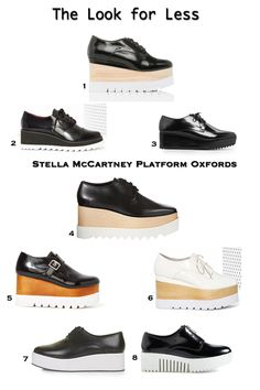 Get the Stella McCartney 'Britt' platform oxford look for less on Fashion Trend Guide