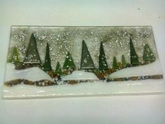 Fused glass forest scene   Glass