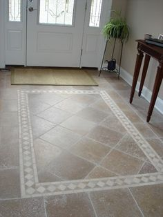 tiled foyer traditional entry - Tile Floor Design Ideas