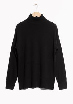 & Other Stories image 1 of Cashmere Turtleneck Sweater in Black