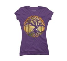 Druid Tree Women's Small Purple Graphic T Shirt - Design By Humans