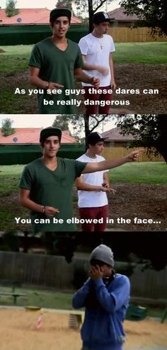 so dangerous......(Janoskians blood and guts challenge)