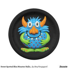 Sweet Spotted Blue Monster Halloween Birthda Party