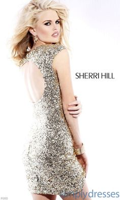 Short Open Back Sequin Dress SH-1611