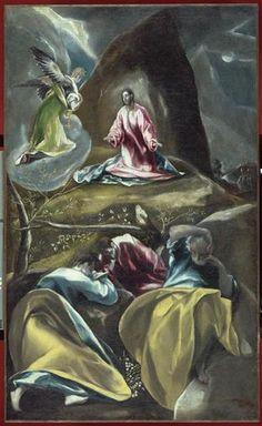 El Greco - Christ in the Olive Garden, 1600 - Palais des Beaux-Arts de Lille, Lille, France