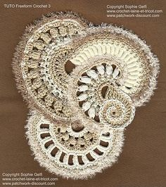 Ravelry: Freeform Crochet Tutorial 3 {english version pattern by Sophie GELFI Designs}