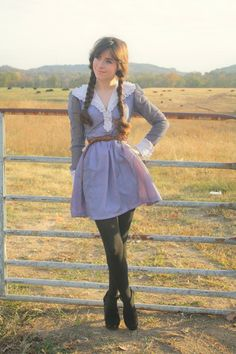 Shortening a vintage dress is an easy way to make it cute and modern.