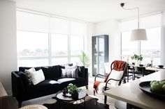 This chill condo proves you're never too old for ikea Living Room Modern, Living Room Designs, Living Rooms, Large Console Table, Brighton Houses, Small Condo, Nest Design, Hallway Decorating, Condo Decorating