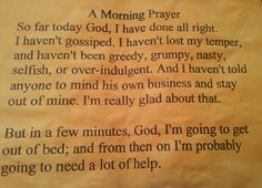A morning prayer.