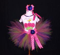 Party Girl Cupcake Birthday Pixie Tutu Set by PoshPinksTutu, $59.00