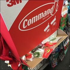Command Strip Christmas Stocking Gravity Feed – Fixtures Close Up Command Strips, Dollar Tree, Hanukkah, Paper Shopping Bag, Christmas Stockings, Retail, Holiday, Needlepoint Christmas Stockings, Vacations