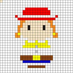 Jessie - Toy Story Perler Bead Pattern
