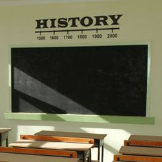 A great way to decorate a History Classroom or work area Sizes available small enough to fit doors up to large sizes like the one shown in picture. www.TheSimpleStencil.com/schools/