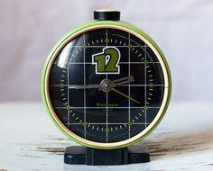 "Soviet clock Russian clock Vintage alarm clock Mechanical clock ""Jantar"""