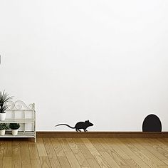 Mice Hole Wall Decal (Set of 2) by Campfire Graphics